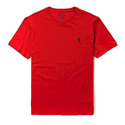 Polo Ralph Lauren 經典電繡小馬圓領素面短袖T恤-紅色