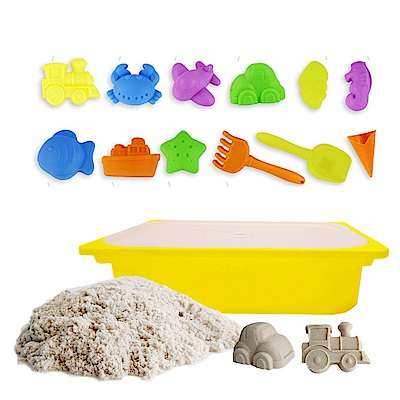 TUMBLING SAND 翻滾動力沙 5 公斤便利組 含大型沙盒  12 件海灘模具組