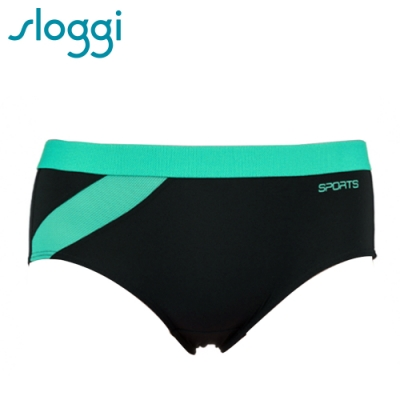 sloggi Slim Active力極限系列平口內褲 M-EL 黑綠 R87-1286G9