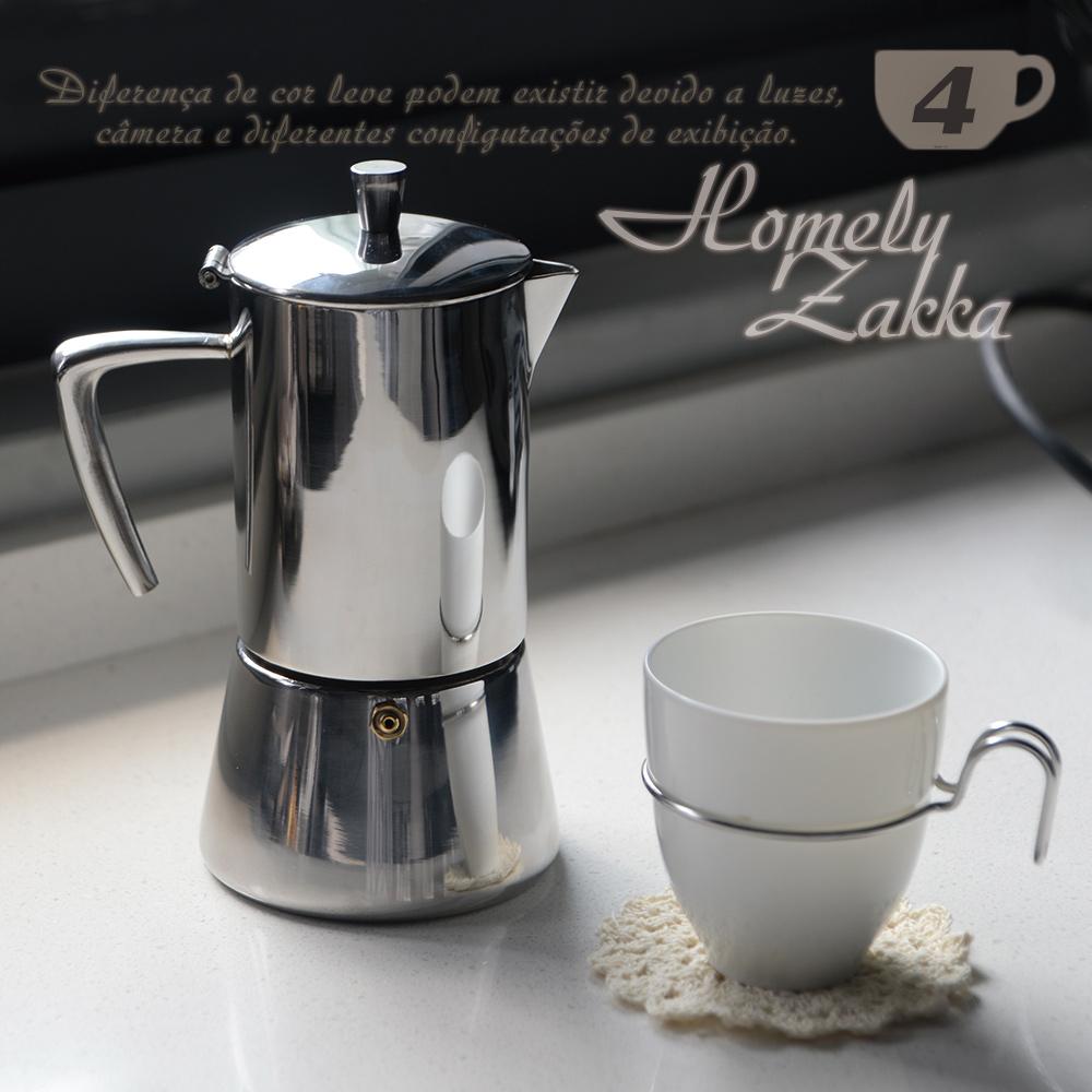 Homely Zakka 極簡主義304不鏽鋼咖啡壼/摩卡壼 (4杯)