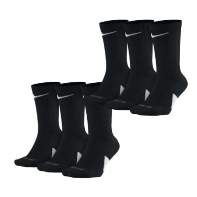 NIKE 籃球鞋 高筒襪 Elite Basketball Socks 6 Pairs 1 Pack 黑色 白色 SX7627010_2 SX7627100_2
