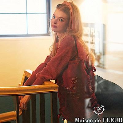 Maison de FLEUR 蝴蝶結緞帶造型手提包