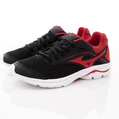 MIZUNO童鞋 WAVE RIDER 23-ON93360黑紅(中大童段)