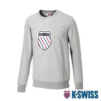 K-SWISS Court Sweaters圓領長袖上衣-女-灰