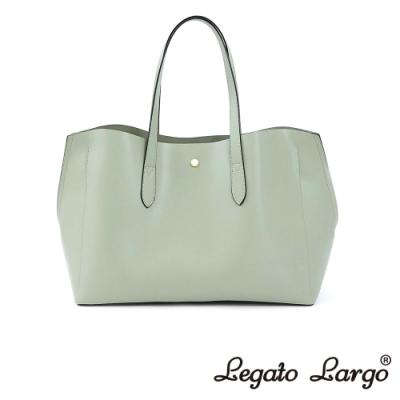 Legato Largo 驚異的輕量化 小法式輕便簡約 流線型剪裁手提袋 薄荷綠