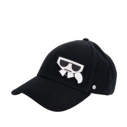 KARL LAGERFELD 新款Q版側邊造型卡爾棒球帽 (黑色)