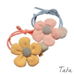 花花造型髮圈 共三色 TATA