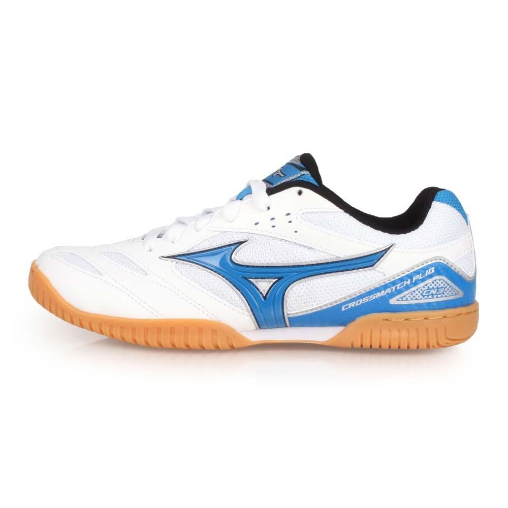 MIZUNO CROSSMATCH PLIO CN3 男桌球鞋-乒乓 白藍