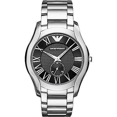 Emporio Armani 自信風範時尚手錶(AR11086)-黑X銀/43mm
