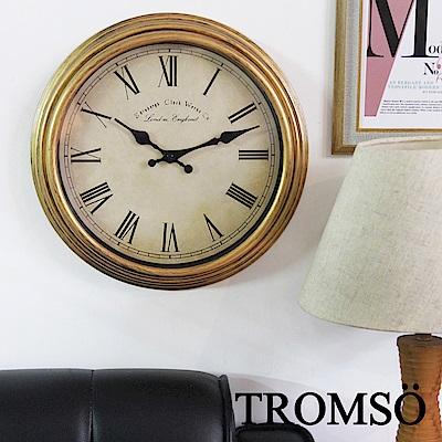 TROMSO倫敦百城羅馬數字時鐘-刷金