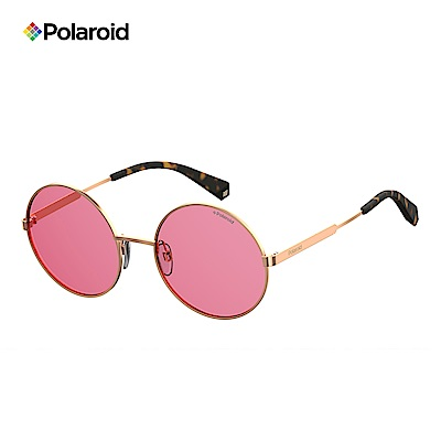 Polaroid PLD 4052/S-復古圓框太陽眼鏡-粉