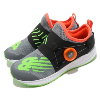 New Balance 慢跑鞋 Revlite BOA 寬楦 運動 童鞋 紐巴倫 輕量透氣 舒適避震 路跑 中童 灰 綠 PKRVLCG2W