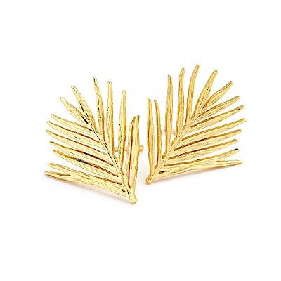 GORJANA 美國品牌 立體剪影 加州棕櫚樹耳環 金色 Palm Studs