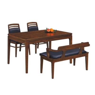 柏蒂家居-卡莉4.5尺實木餐桌椅組(一桌三椅)-135x80x76cm