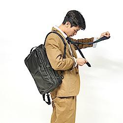 RAWROW-極黑系列-15吋三用雙層後背包(手提/肩背/後背)-RBP162BK