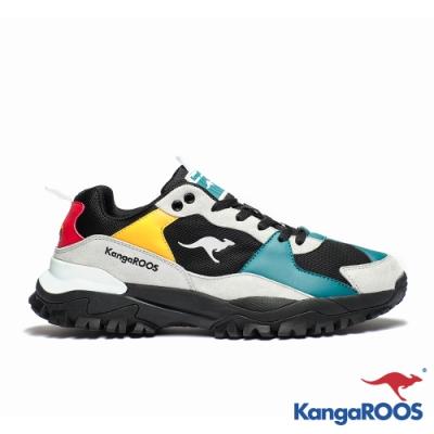 KANGAROOS 男 JOGGER 越野老爹鞋(藍黑)