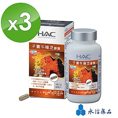 HAC 子實牛樟芝膠囊(60粒/瓶;3瓶組)