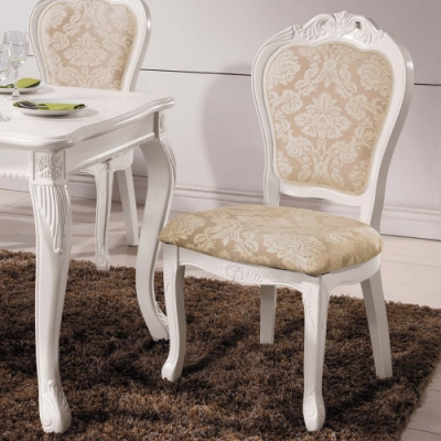 H&D 奧琳娜白色餐椅