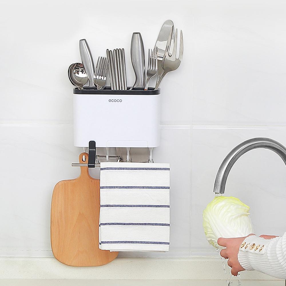 [aiken]無痕多功能餐具收納架