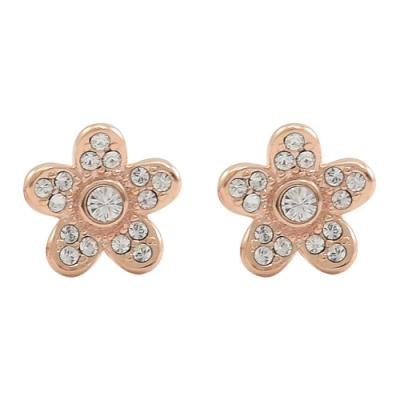 MARC JACOBS小花水鑽裝飾耳針式耳環(玫瑰金色)