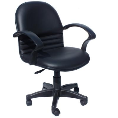 【COLOR】經典氣壓升降皮扶手辦公椅