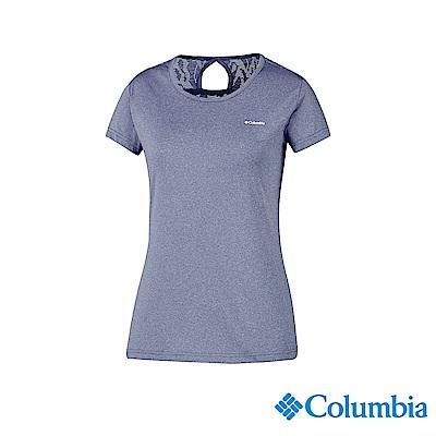 Columbia 哥倫比亞 女款-快排短袖上衣-藍紫色 UAK14920UU
