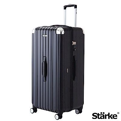 Starke LUXURY 32吋PC耐撞TSA海關鎖拉鏈行李箱 -霧面黑