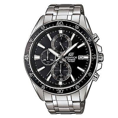 EFIFICE經典三針三圈設計賽車不鏽鋼腕錶(EFR-546D-1A)-黑/47mm