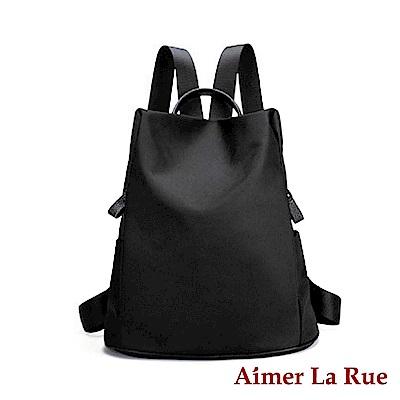 Aimer La Rue 率性輕盈尼龍後背包-黑色(快)