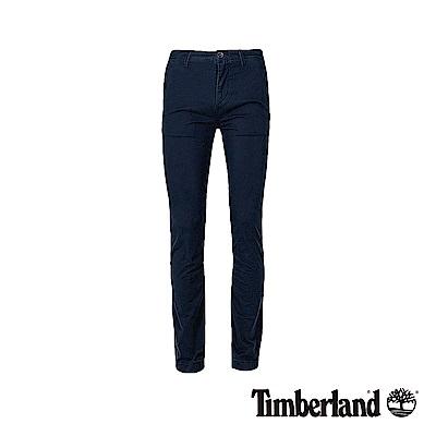 Timberland 男款深藍色修身彈力斜紋布長褲|A1VTY