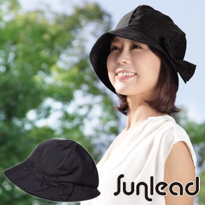 Sunlead 小顏護髮款。日系防曬透氣深圓頂遮陽帽 (黑色)