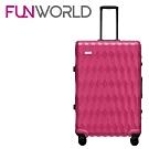 FUNWORLD 20吋鑽石系列鋁框行李箱-孔雀桃
