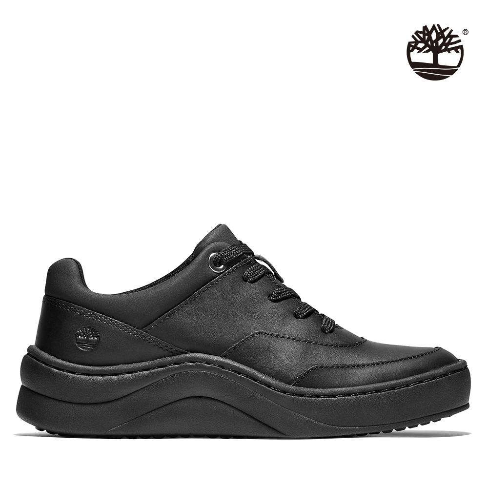 Timberland 女款黑色全粒面低筒運動鞋|A218P