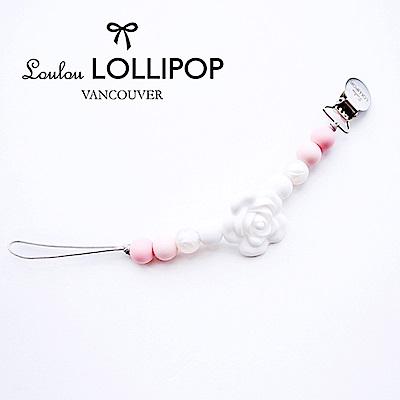 加拿大Loulou lollipop嬰幼兒串珠奶嘴夾/奶嘴鍊夾 山茶花系列-嬰兒粉