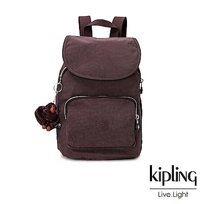 Kipling深紫羅蘭素面後背包(中)