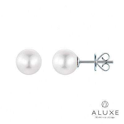 A-LUXE 亞立詩 8-8.5mm淡水養珠珍珠耳環
