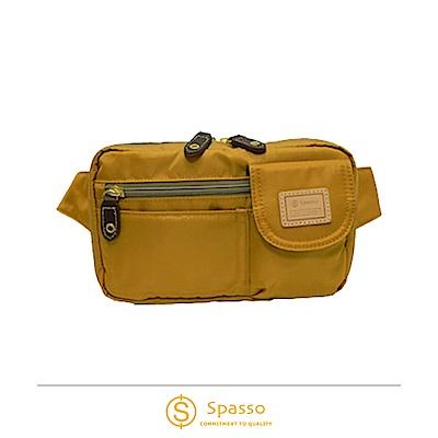 SPASSO 日本同步款 超輕量斜背包腰間包 芥末黃色