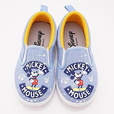 迪士尼童鞋 米奇休閒帆布款 ON18629藍(中小童段)
