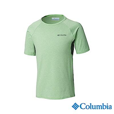 Columbia 哥倫比亞 男童-快排短袖上衣-綠色 UAB00150GR