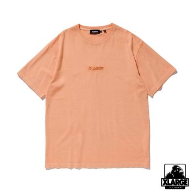 XLARGE S/S PIGMENT TEE STANDARD LOGO短袖T恤-橘