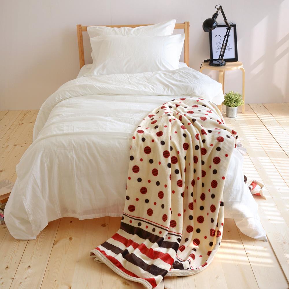 絲薇諾 幸福紅玉 法蘭絨毯/毛毯-145×200cm