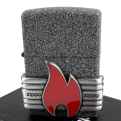 ZIPPO 美系~Red Vintage Wrap-復古火焰貼飾打火機