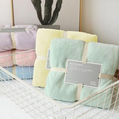 【Incare】超強吸力柔軟珊瑚絨浴巾+毛巾組 (5色/3套超值組)