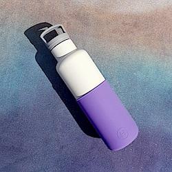 美國HYDY時尚保溫瓶_CinCin White紫羅蘭-白瓶 590ml