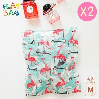 【PLAY BAG】夾鏈環保立體袋(中)9入 夏日系列綜合包*2