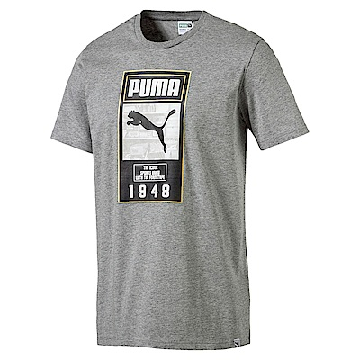 PUMA-男性流行系列Summer Brand短袖T恤-中麻花灰-亞規