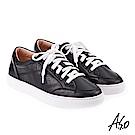 A.S.O 3D超動能 壓花拼接機能休閒鞋 黑