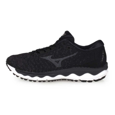 MIZUNO 女 慢跑鞋 WAVE SKY WAVEKNIT 3 黑灰