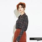 H:CONNECT 韓國品牌 女裝-簡單配色格子襯衫-灰