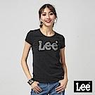 Lee 銀箔LOGO短袖圓領T恤/RG-標準版-黑